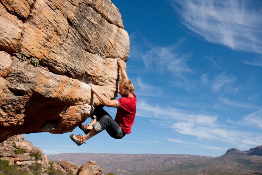 Rock climbing in South Africa at Rocklands