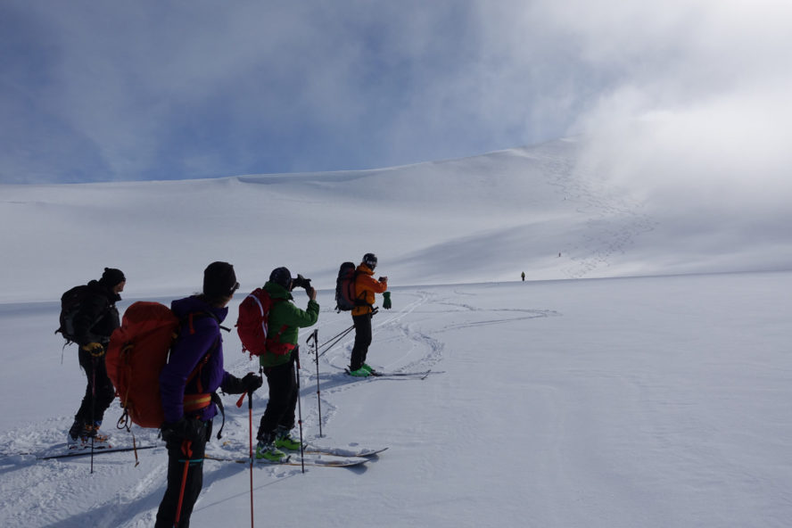 skiing in Svalbard, Norway