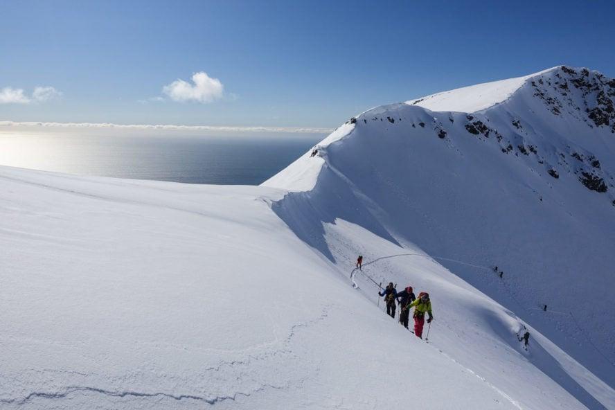 Svalbard skiing
