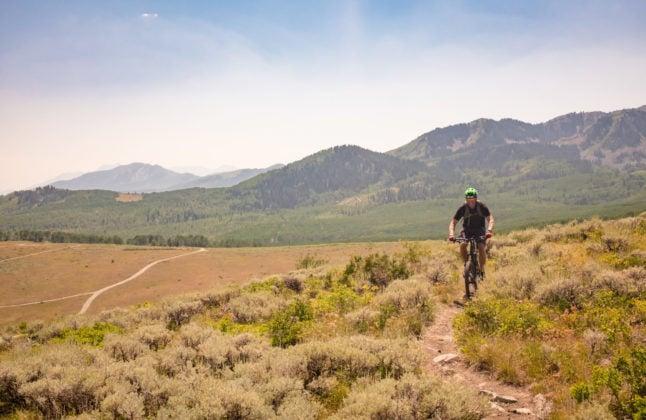 mountain biking in park city