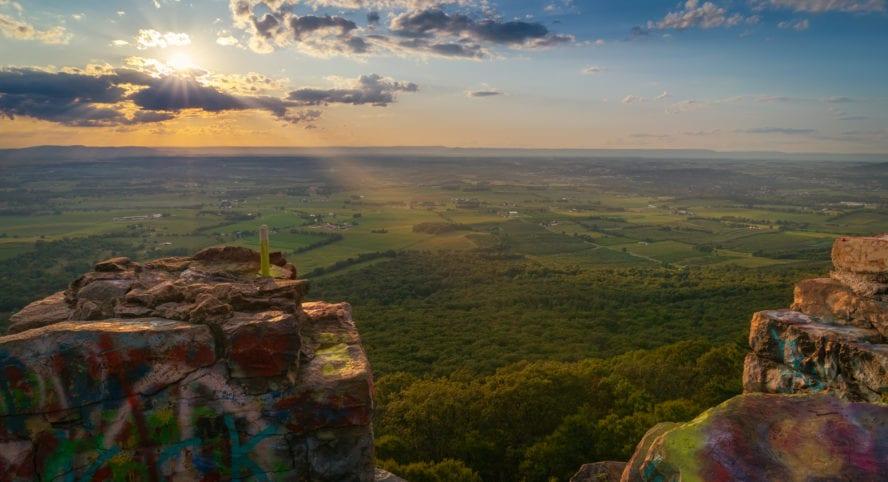 high rock climbing