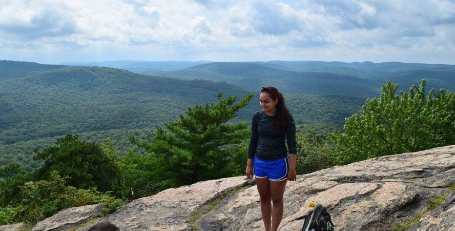 hiking at Bear Mountain