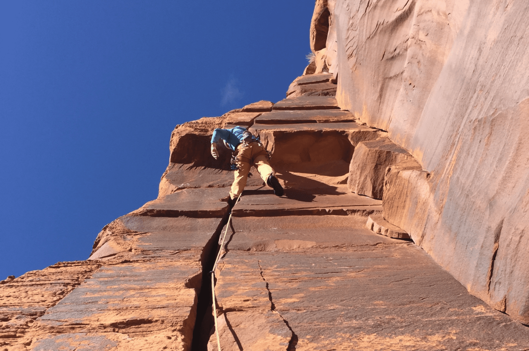 Creek rock climbing