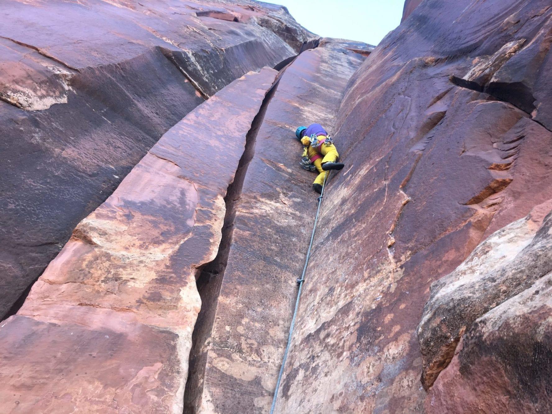 Indian Creek climbing