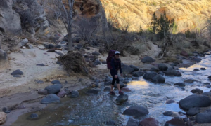 Hiking at Escalante National Park