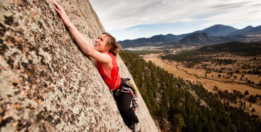 Rocky Mountain rock climbing