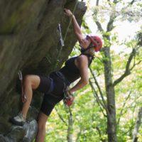 Rumney climbing