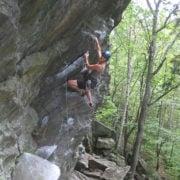 rock climbing at Rumney
