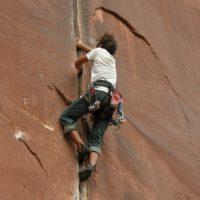 climbing at indian creek