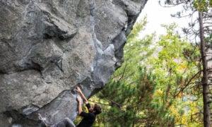 Climbing at rumney