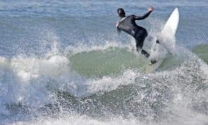 Ocean beach surfing, California