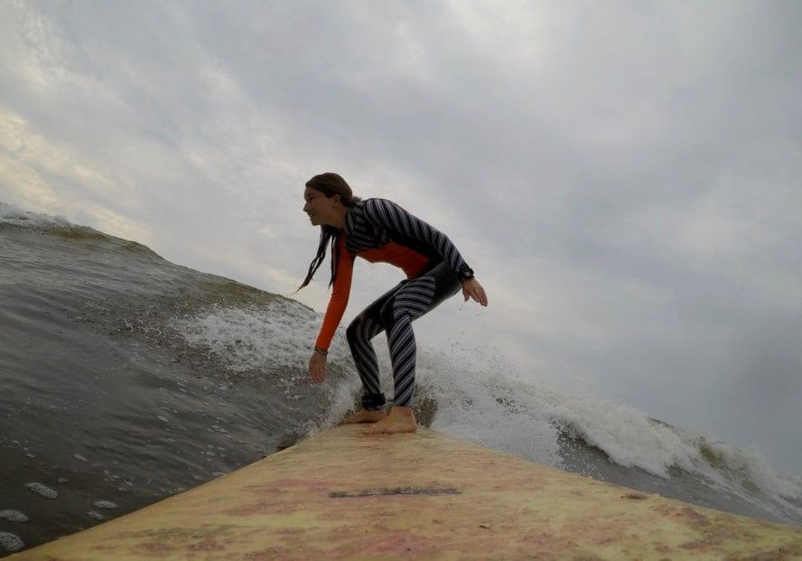 Pleasure point surfing