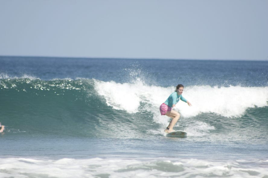 Surfing at Witch's Rock