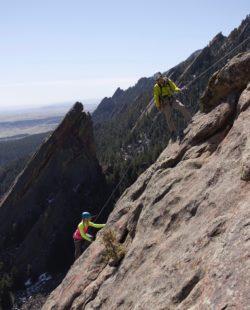 Flatirons rock climbing