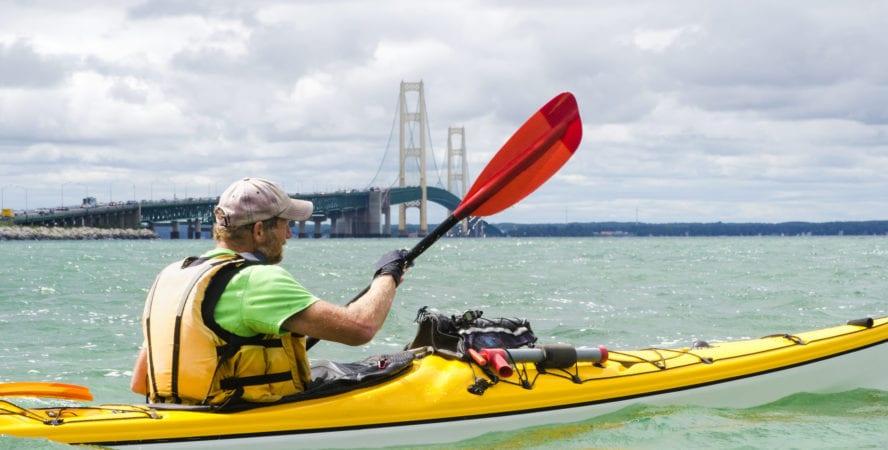 Lake Michigan kayaking