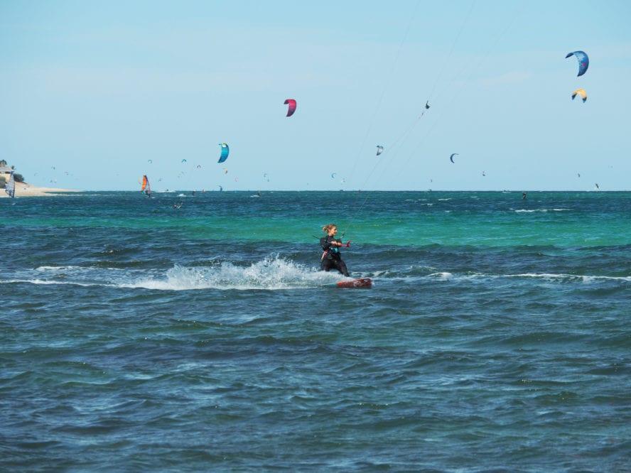 kitesurfing at la ventana