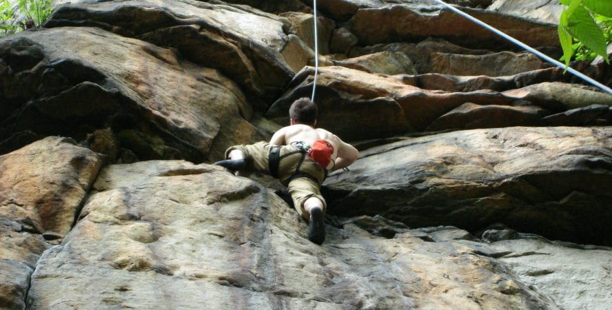New River Gorge rock climbing