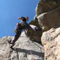 rock climbing in rocky mountain national park