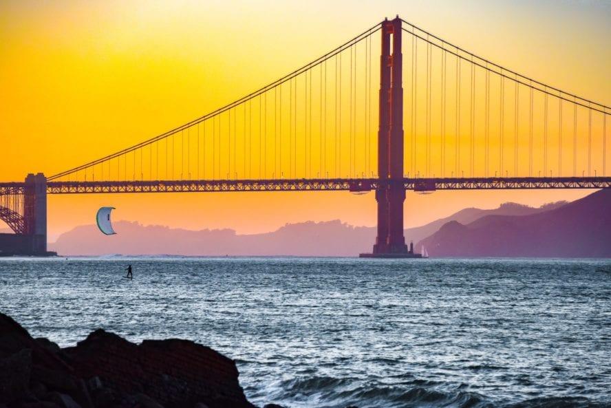 San Francisco kiteboarding