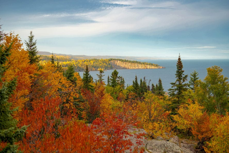 Palisade Head in Beaver Bay on the Superior Hiking Trail