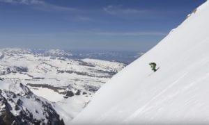 skiing down grand teton