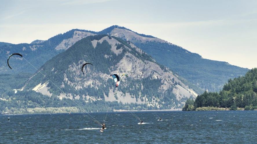 Columbia River Gorge kiteboarding