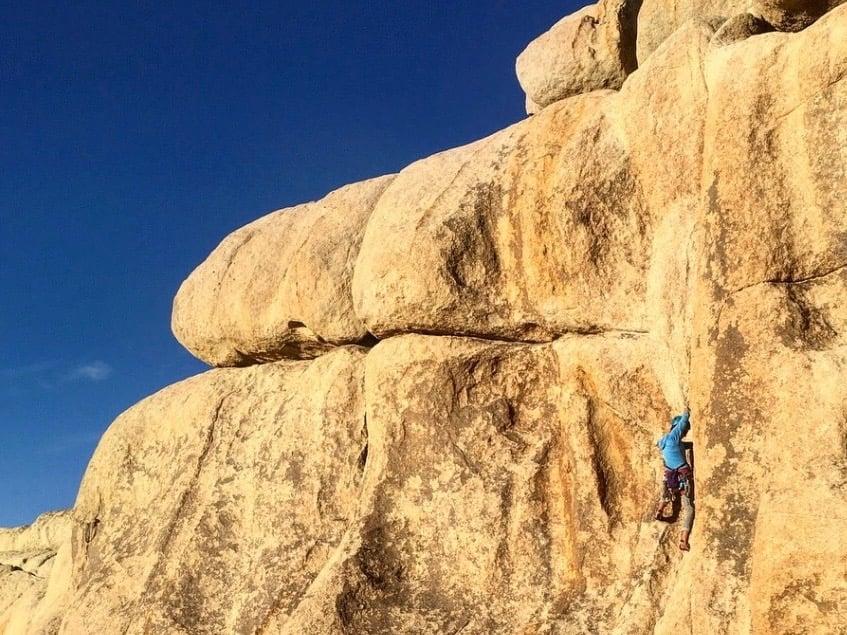 traditional rock climbing joshua tree