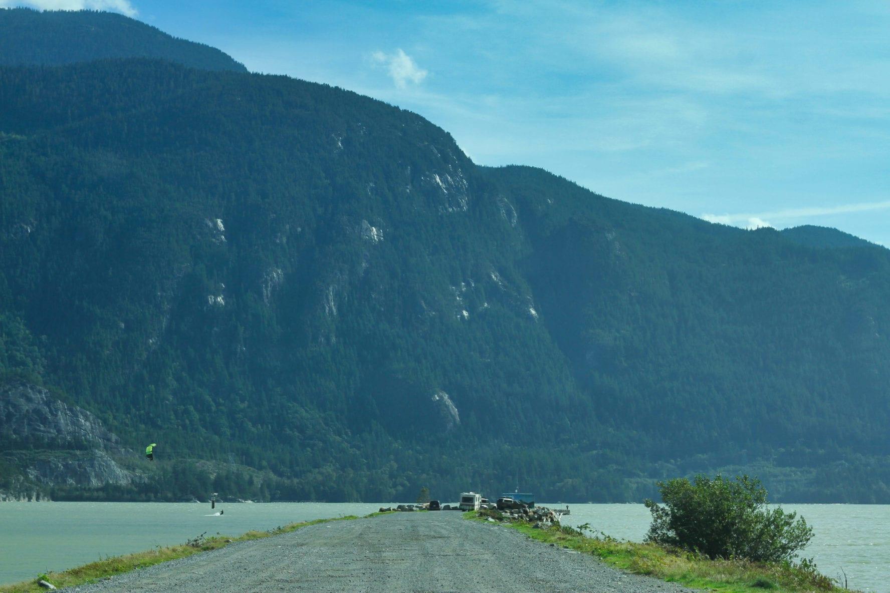 The Spit kiteboarding