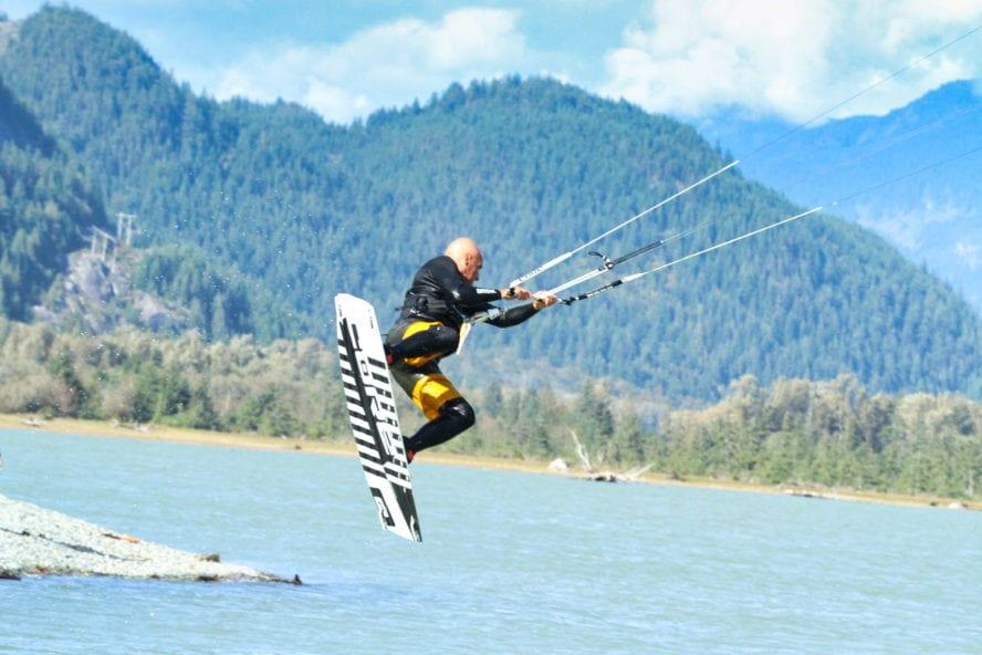Kiteboarding in Squamish