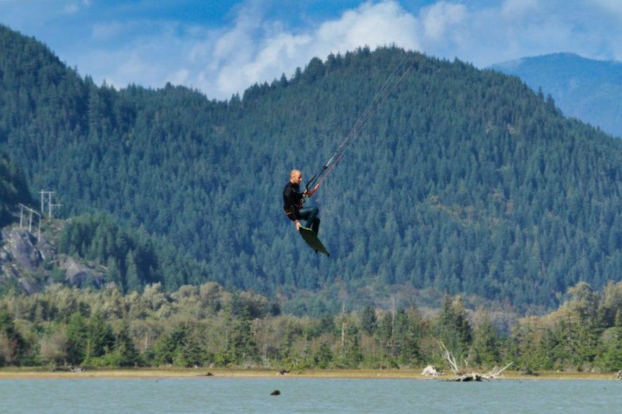 Squamish kiteboarder