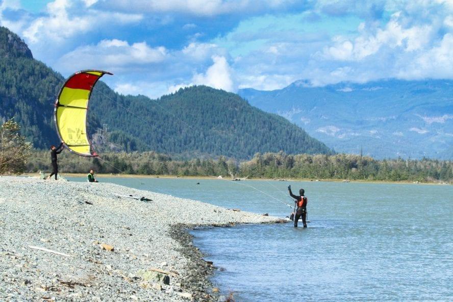 Squamish BC kiteboarding