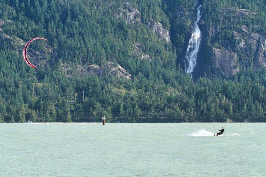 kiteboarding in Squamish, BC