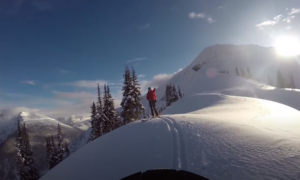 Roger Pass backcountry skiing video