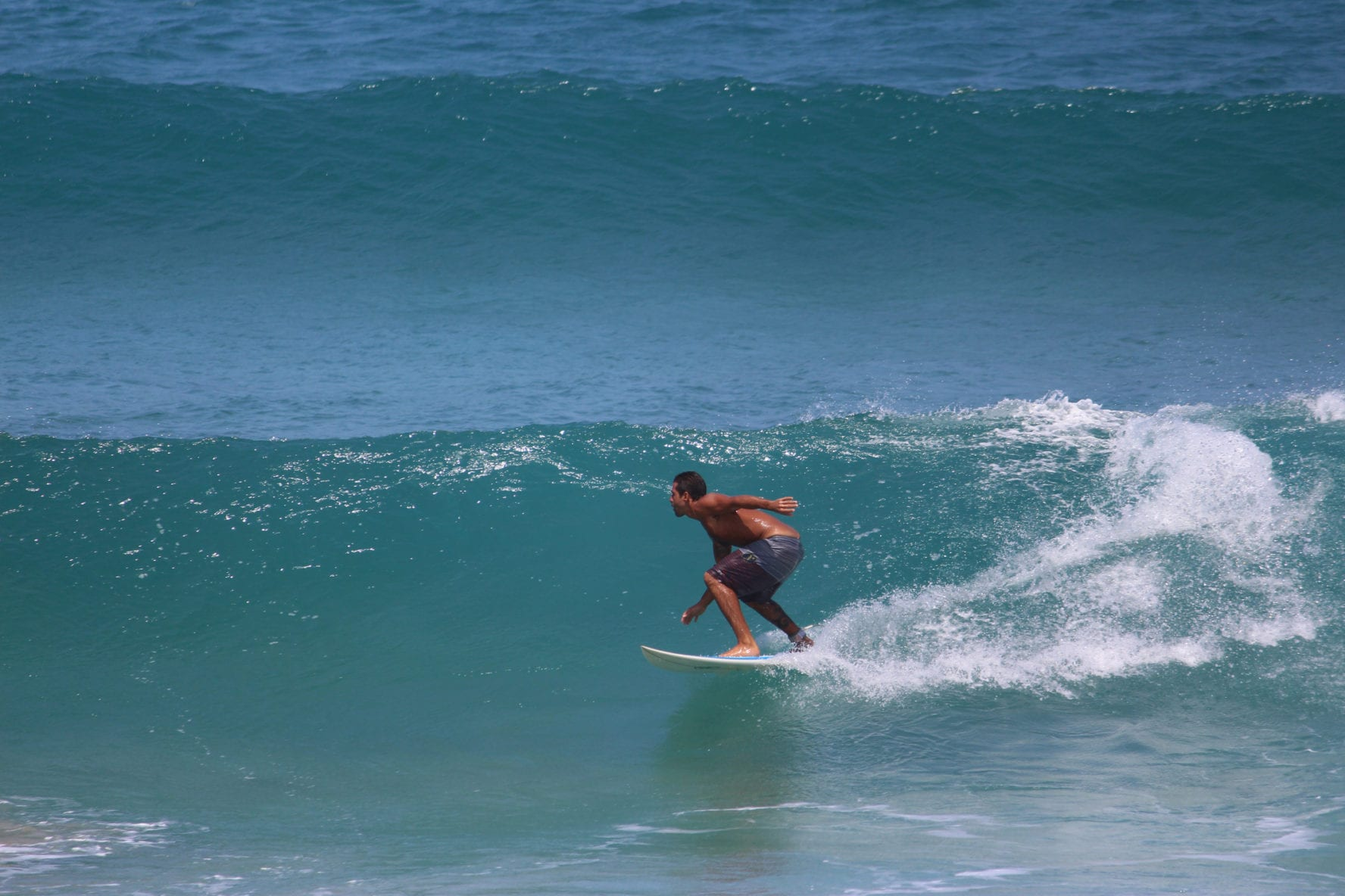 Surfing at Rincon, Puerto rico