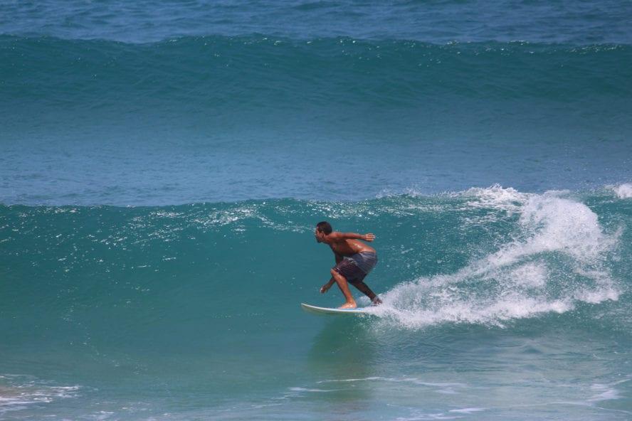 Surfing at Rincon, Puerto rico