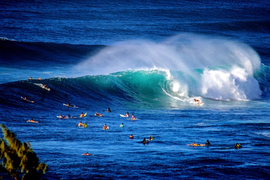Surfing at North Shore
