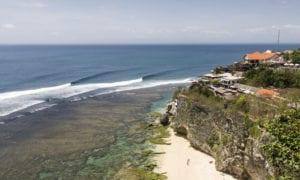 Uluwatu surf break on Bali