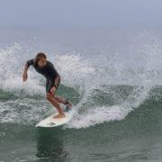 Surfing at Trestles, California