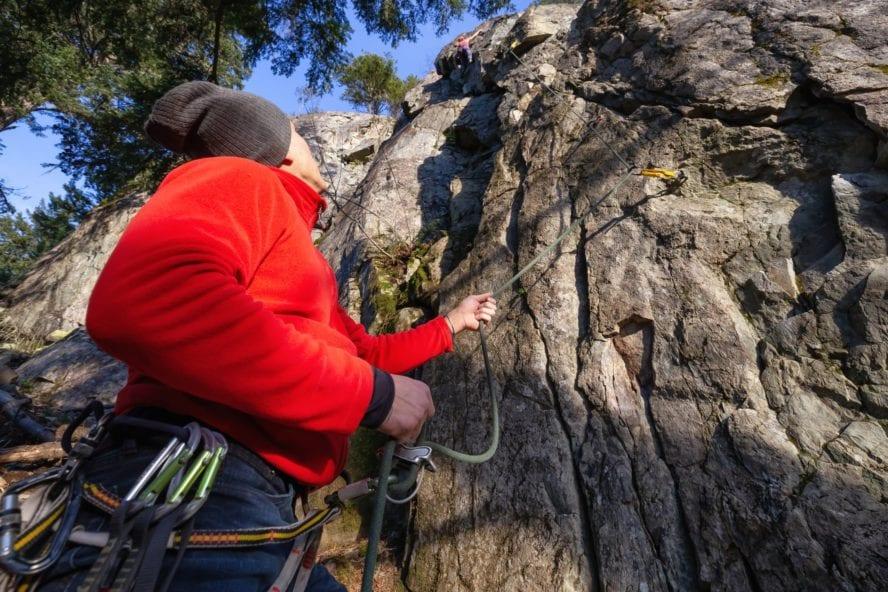 Climbing in Squamish