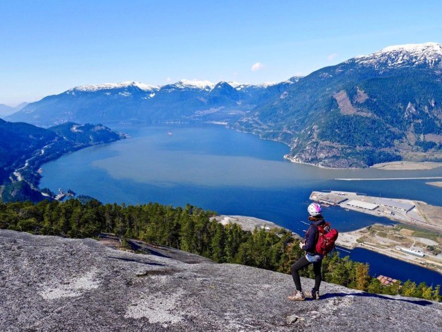 Squamish rock climbing