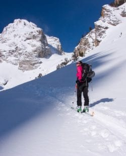 Backcountry skiing in Tetons