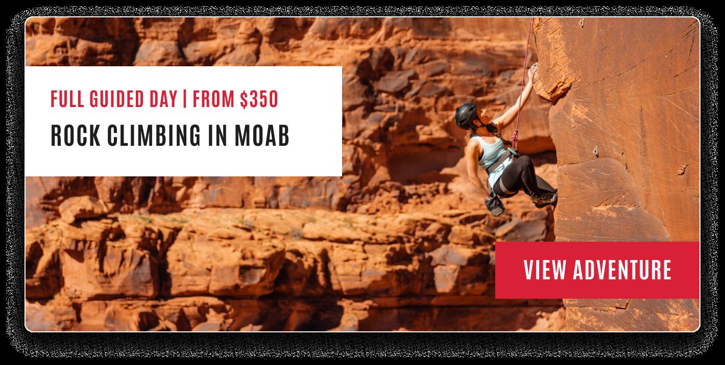 Moab rock climbing