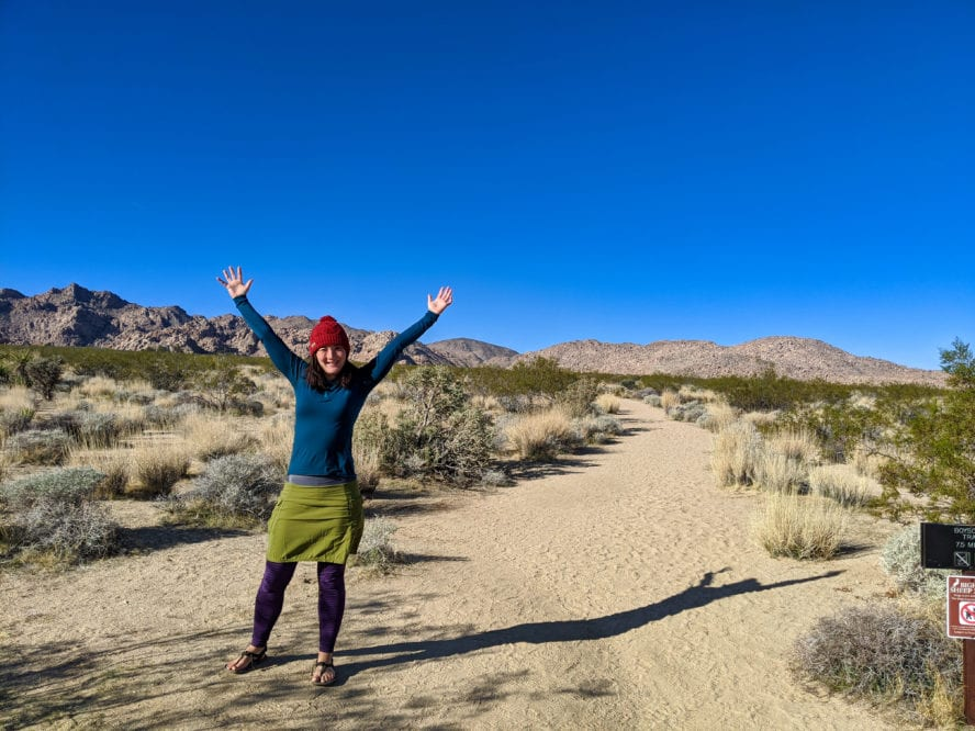 Joshua Tree hiking -Boy Scout Traill