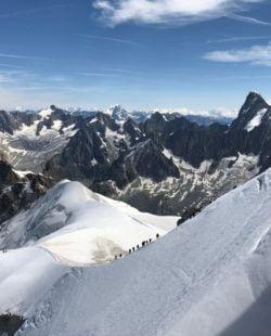 Chamonix climbing