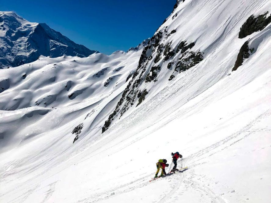 backcountry skiing Chamonix
