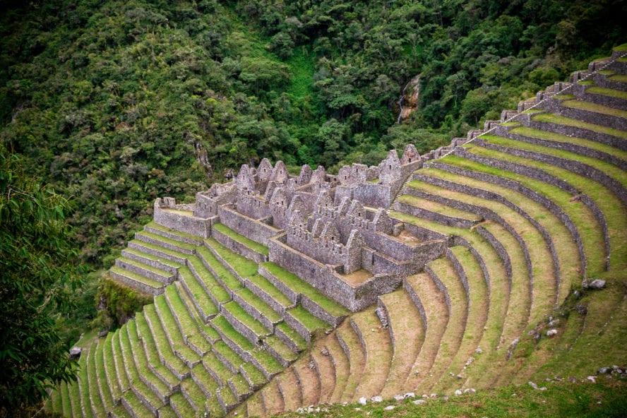 Inca trail hiking
