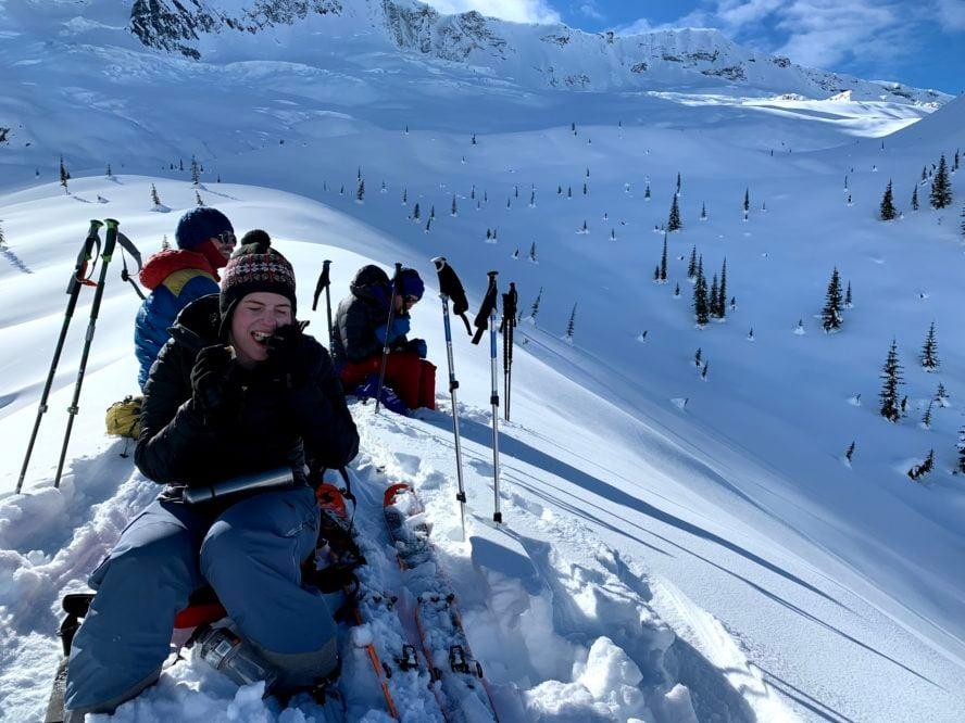 Backcountry skiing Revelstoke