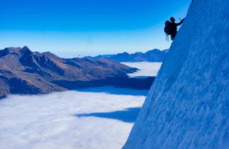 Eiger rock climbing