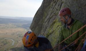 Devils Tower rock climbing video