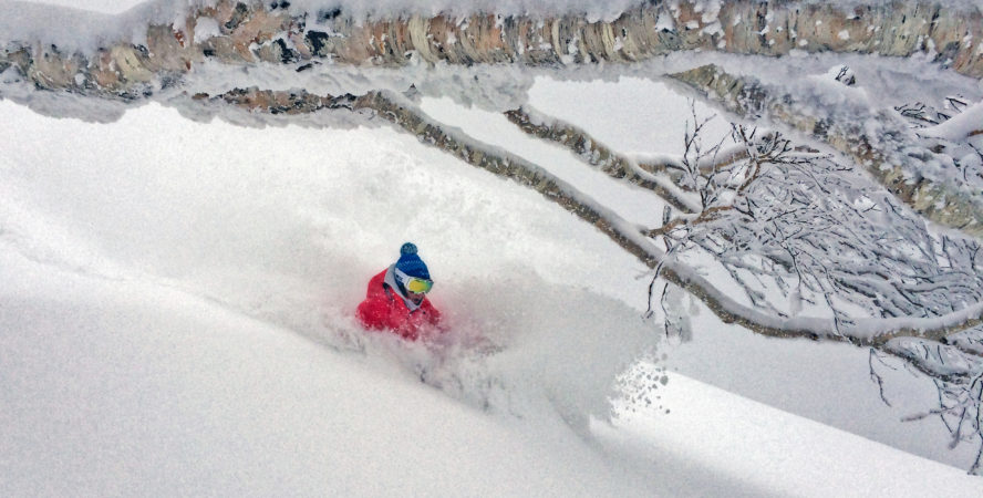 Japan powder skiing